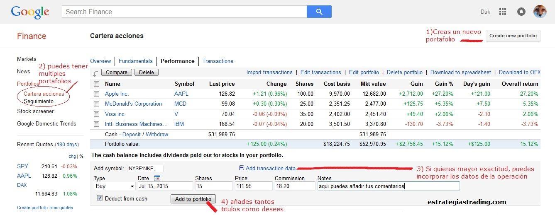 Guía Google Finance: Ideas para sacar todo el jugo a esta